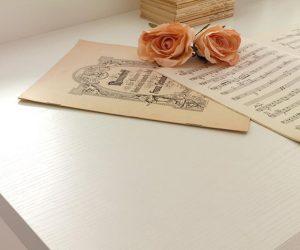 Piano scrivania Frassino Bianco