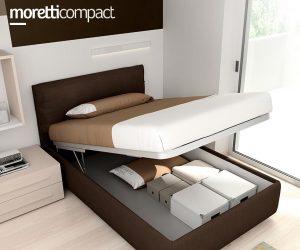 Contenitore su letto imbottito