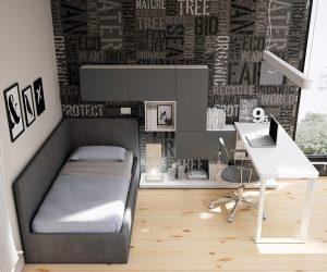 Zona letto e studio